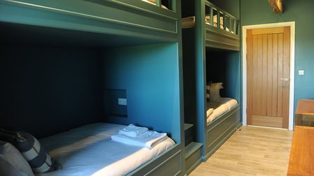 One of the bedrooms at The Sheepyard Barn. Picture: SARAH LUCY BROWN