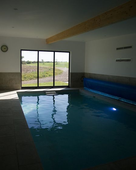 Indoor pool at The Sheepyard Barn. Picture: SARAH LUCY BROWN