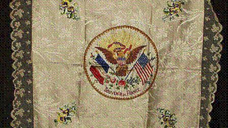 One of the handkerchiefs set to be on display in Langton Place, in Bury St Edmunds