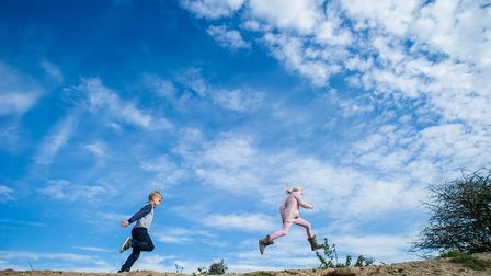 Children run free in the wild - 30 Days Wild encourages everyone to do so. Picture: MATTHEW ROBERTS/