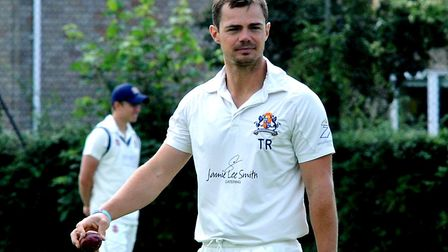 Tom Rash, who scored 43 on his Mildenhall debut after bowling tightly with figures of 10-3-25-0 in t
