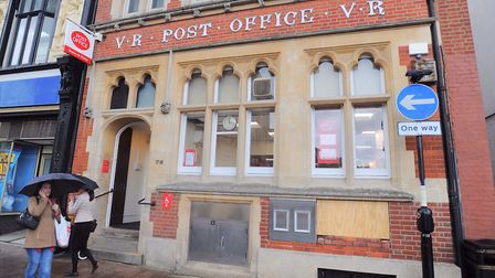 The historic front of the former Bury St Edmunds post office will be kept. Picture: GREGG BROWN