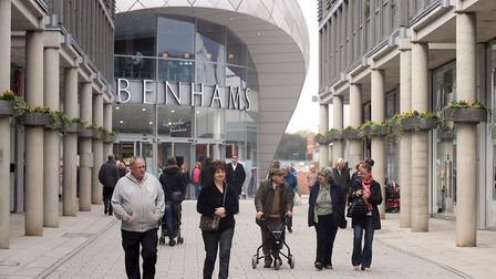 A widened link between the Arc shopping centre in Bury St Edmunds and the old town is planned. Pictu