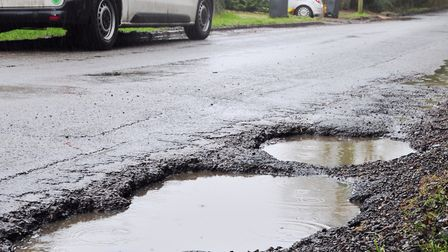 More potholes are still opening up after the harsh winter. Picture: SARAH LUCY BROWN