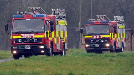 Firefighters attended the scene. Picture: PHIL MORLEY