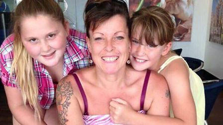 Mandy Snowling with Louise and Ellece. Picture: SUPPLIED BY FAMILY