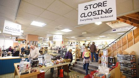 Last day of trading at Palmers Homestore in Bury St Edmunds. Picture: GREGG BROWN