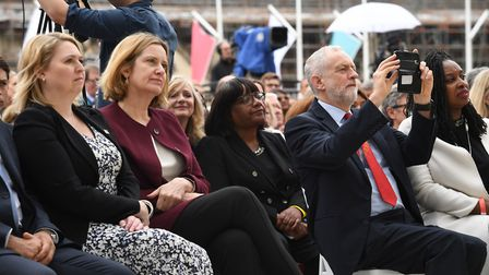 Political leaders turn out for the unveiling of the statue in Parliament Square, London. Picture: St