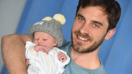 Ipswich baby born the same day as the royal baby. Sam and Penelope Thurston. Picture: GREGG BROWN