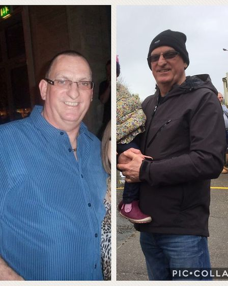 Before and after: Ian Lower. Picture: Slimming World