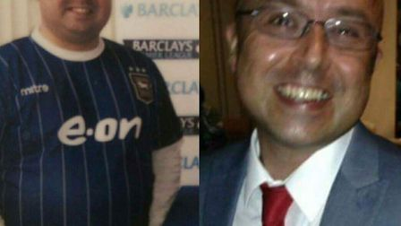 Before and after: Ian Knights. Picture: Slimming World