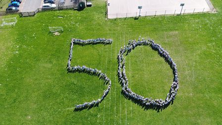 Burton End Primary Academy celebrated its 50th anniversary on Monday. Picture: JAMES WALKER - C/O WA
