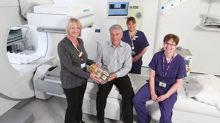 Left to right: Sarah Warner, senior unit manager, Alliance Medical, Frank Pearson from Manningtree,