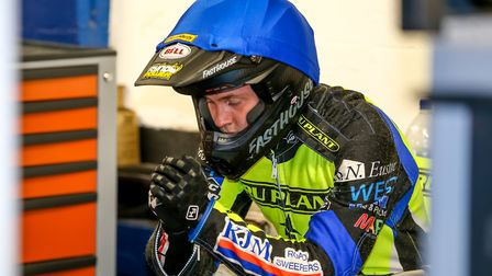 Connor Mountain deep in thought ahead of heat 11 a Foxhall on Saturday night. Picture: Steve Wall