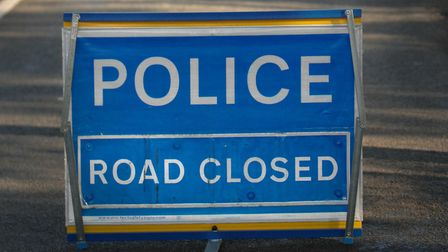 Police are attending a three-vehicle crash in Westerfield. Picture: ARCHANT