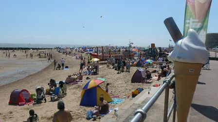 Clacton beach during the 2017 Beside the Seaside Festival. Picture: TDC