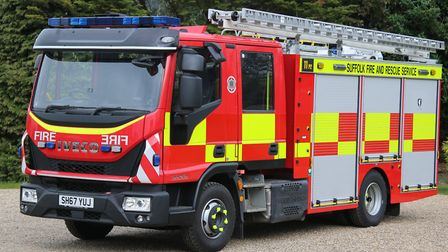 The new lightweight fire appliance at Wrentham. Picture: SUFFOLK COUNTY COUNCIL