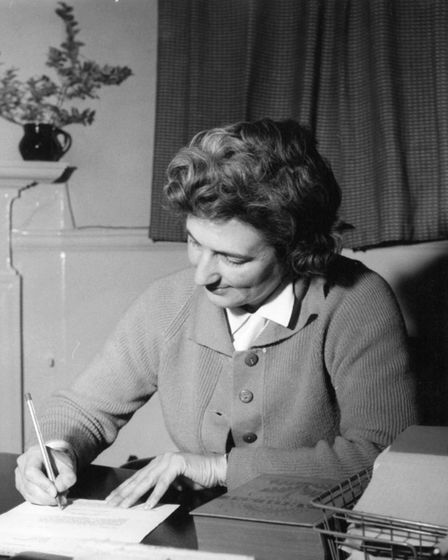 Miss Langshaw at her desk. Picture THOMAS MILLS HIGH SCHOOL