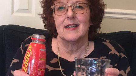 It looks the same... but it doesn't taste the same. Lynne fails to be revived by Lucozade. Picture: