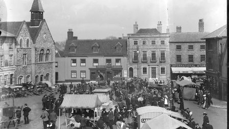 Bury St Edmunds market. Picture: BURY PAST AND PRESENT SOCIETY