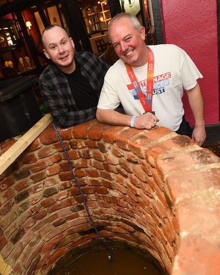 The Four Horsehoes pub has a wishing well inside the building and a diving team from Ipswich are rem