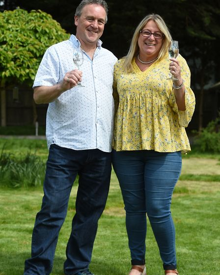 The couple bought the home after Sue won �3 million on a National Lottery scratch card in 2016. Pict