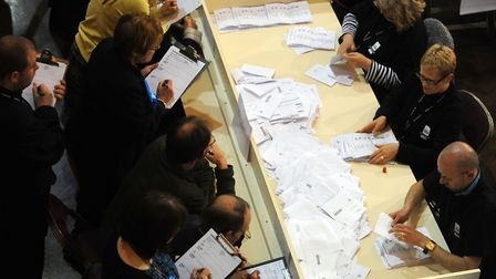 The election counts will take place overnight in Ipswich and Colchester. Picture: LUCY TAYLOR