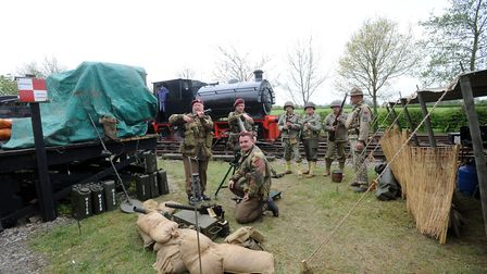 A previous 'Middy in the War Years' event at Mid Suffolk Light Railway at Wetheringsett. Picture: PH