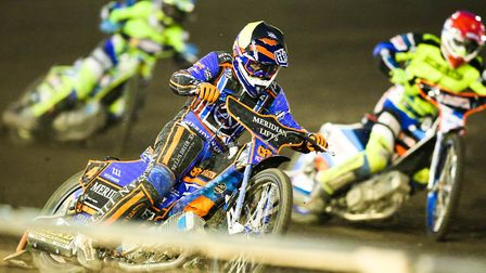 Former Witch Kyle Newman ahead of Rory Schlein and Danyon Hume in heat seven. Picture: Steve Wall