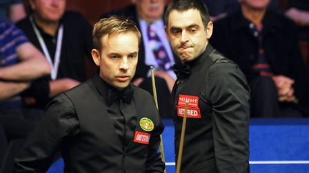 Ali Carter during his match against Ronnie O' Sullivan during day eight of the 2018 Betfred World Ch