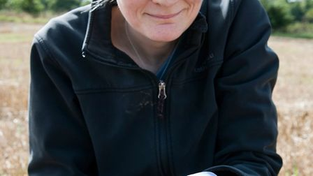 Jackie Stroud, soil scientist at Rothamsted Research, examining earthworms. Picture: ROTHAMSTED RESE