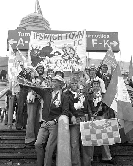 Town fans outside Wembley before kick-off. Picture: OWEN HINES/ARCHANT