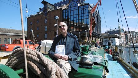 Author Barry Girling, who has written Ipswich; Memories of a Special Town, at the book launch on the