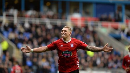 Martyn Waghorn opened the scoring in Ipswich Town's 4-0 win at Reading last weekend. Photo: Pagepix