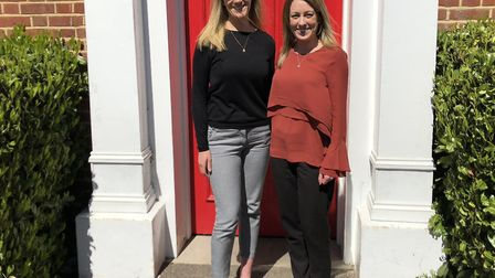 Colleagues Jemma Gale and Helen Smith of ROL Cruise, Colchester who are planning a marathon trek in