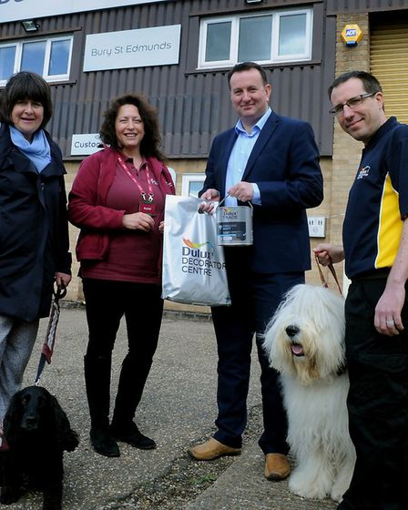 Left to right: Hearing Dogs volunteer Margo Harrison and community fundraising manager Rachel Clarke