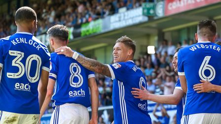 Martyn Waghorn celebrates after scoring from the spot. Picture: STEVE WALLER WWW.STEPHENWALLE