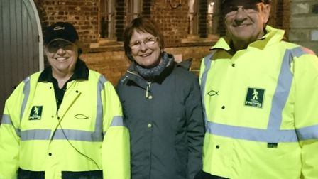 St Edmundsbury mayor Julia Wakelam spent an evening with the Bury Town Pastors observing their work.