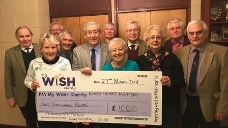 Pictured, left to right, with their cheque for £1,000 for the Every Heart Matters appeal are Stannin