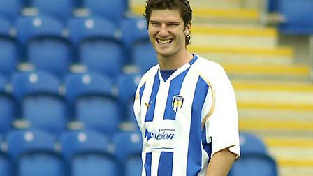 A smiling Pat Baldwin, back in his days with Colchester United.