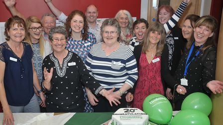Therapists at Livability Icanho celebrating the centre's 20th anniversary. Picture: SARAH LUCY BROWN