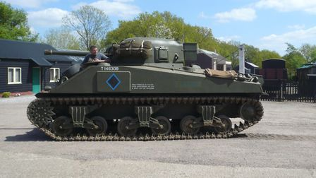 The tank, owned and driven by Adrian Barrell, was an attraction at Middy in the War Years event. Pic