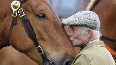 John Fleming with Suffolk Heavy Horse Eyke Amber at the Suffolk Show back in 2009. Picture: ASHLEY P