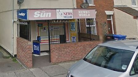 The newsagents in Oxford Road, Lowestoft. Picture: GOOGLE