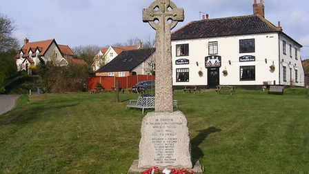 Huntingfield War Memorial. Picture: ADRIAN CABLE