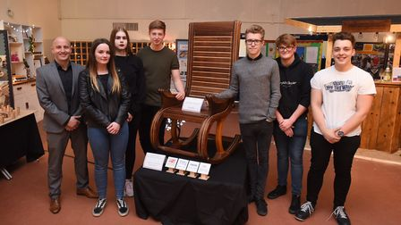 The exhibition featured GCSE and A level work, including textiles, furniture and product design proj