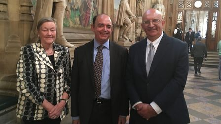 Left to right: St Edmundsbury borough councillor Carol Bull, Lord Bourne of Aberystwyth and Forest H