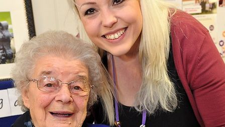 Katy Hughes and Mildenhall Lodge's resident ambassador Jean Fincham Picture: WPR AGENCY