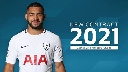 Cameron Carter-Vickers has signed a new contract with Tottenham. Picture: Tottenham Hotspur