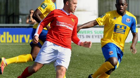 Shaun Avis playing for Mildenhall Town against AFC Sudbury Picture ANDY ABBOTT